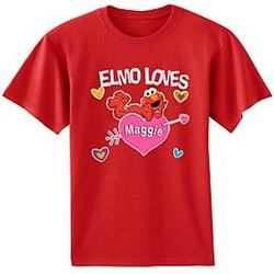 Personalized Abby Cadabby, SpongeBob or Elmo Valentine T-Shirts