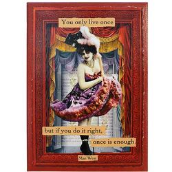 Mae West Quote Collage on Canvas