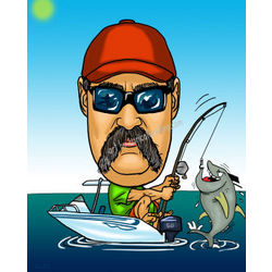 Fisherman caricature
