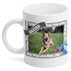 Happy Dog Personalized Photo Coffee Mug