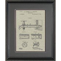 Beer Tap Patent Framed Print