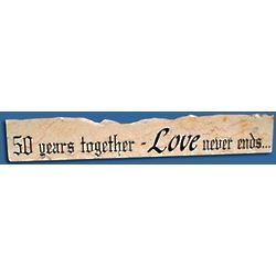 50 Years Together Jerusalem Stone Wall Hanging