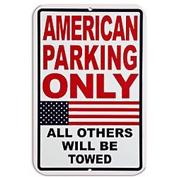Personalized American Parking Only Sign