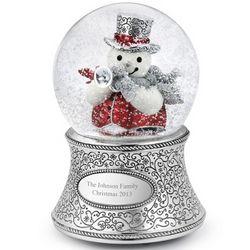 Trumpet Snowman Snow Globe