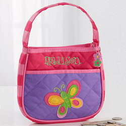 Girls Personalized Butterfly Purse
