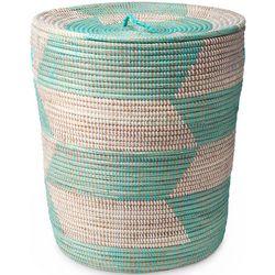 Handmade Lidded Basket Hamper