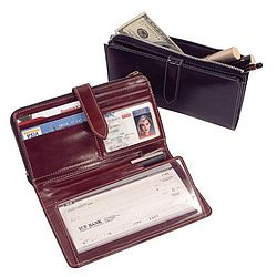 Check Book Wallet & Clutch