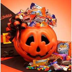 Tricks or Treats Halloween Jack O' Lantern Basket