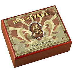 Personalized Cigar Humidor with Monogram Cigar Label