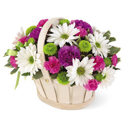 Blooming Bounty Flowers Basket
