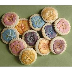 Pretty Pansies Springerle Cookie Gift Tin