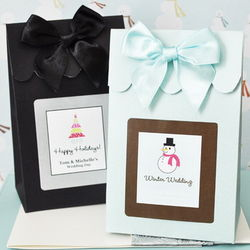 Personalized Holiday Candy Shoppe Favor Bags