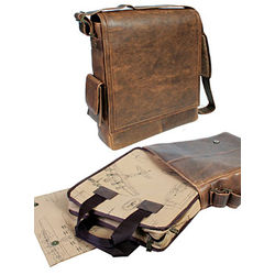 Top Grain Saddle Leather Laptop Bag