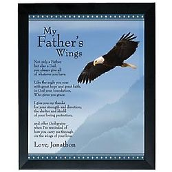 Personalized Wings Framed Print