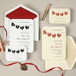Hung Up On Love Wedding Invitations