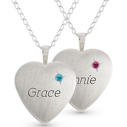 Girl's Sterling Birthstone Locket