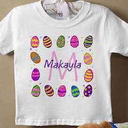 Personalized Easter Eggs Baby T-Shirt