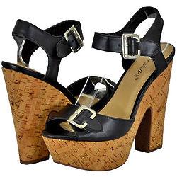 Women's Black Platform Sandals