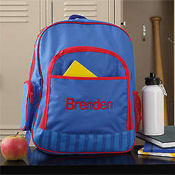 Back to School Personalized Blue Backpack