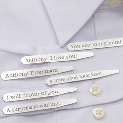 Secret Message Personalized Collar Stays