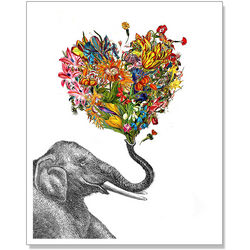 The Happy Elephant Art Print