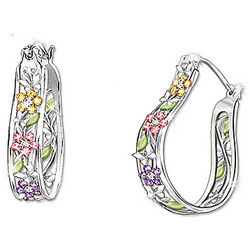 Garden of Hope Breast Cancer Support Floral Earrings