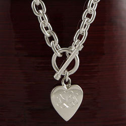 Personalized Heavy Necklace with Heart Pendant