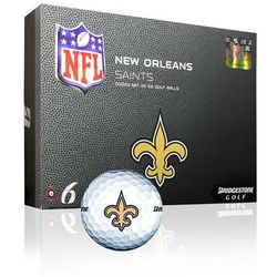 New Orleans Saints Bridgestone Golf Balls