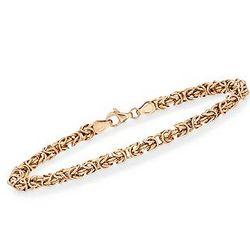 Italian 14K Yellow Gold Byzantine Bracelet