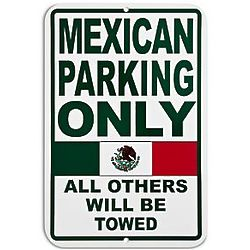 Personalized Mexican Parking Only Sign