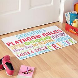 Personalized Playroom Rules Doormat
