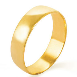 Engravable 14k Gold 5mm Classic Wedding Band