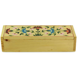 Indian Iris Wood Jewelry Box