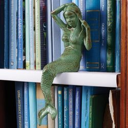 Cast Iron Mermaid Figurine