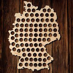 Beer Cap Map of Germany
