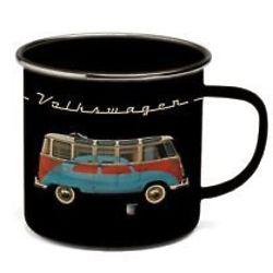 Volkswagen Bus and Beetle Retro Enamel Coffee Mug
