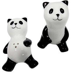 Daydreaming Panda Salt + Pepper Shaker Set