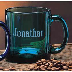 Jade Glass Personalized 13oz. Coffee Mug
