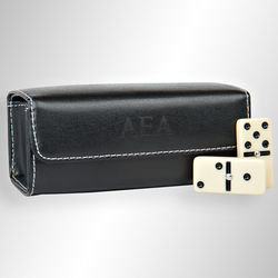 Personalized Leather Travel Domino Set