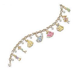 Disney Princess Charm Bracelet with Swarovski Crystals