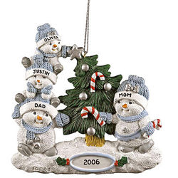 Snowbuddies Family Ornament