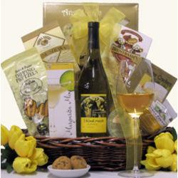 3 Blind Moose Chardonnay Happy Hour Wine Gift Basket