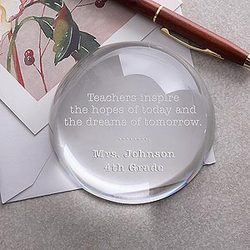 Inspirational Quotes Teacher Crystal Paperweight