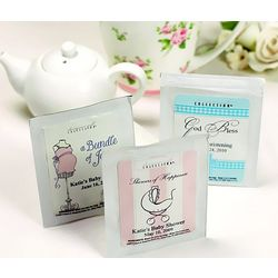 Personalized Baby Tea Bag Favors