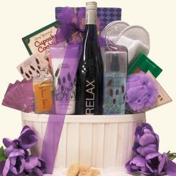 Relax Riesling Mother's Day Wine and Spa Gift Basket