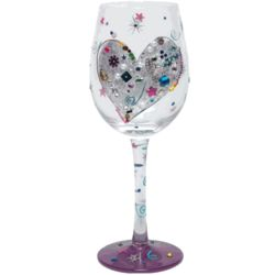 Silver Lining Hand-Painted Wine Glass