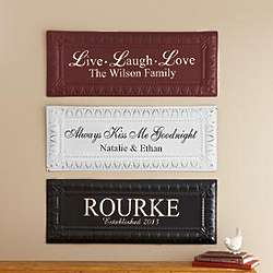 Personalized Pressed Tin Wall Decor