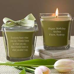 Papaya and Bamboo Personalized Birthday Spa Candle