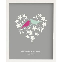 Personalized Love Birds Framed Art