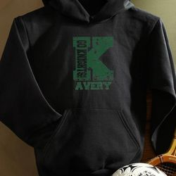Personalized Boy's Black Athletic Sweatshirt